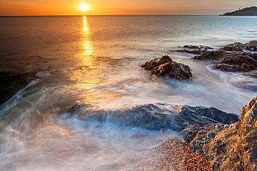 Sunrise in Hallsands near Torcross, South Devon, England, UK, Europe,