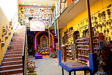 Interior of Shop Filled with goods for sale in Oaxaca, Mexico