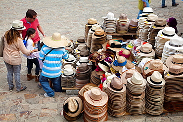 Vendor Selling Hats outside Monte Alban Site in Oaxaca, Mexico