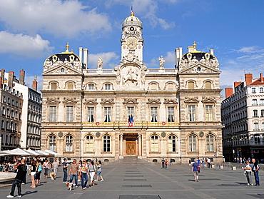 Hotel de Ville City Hall at Place des Terreaux in Lyon, France