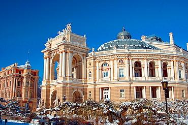 Opera and ballet theater, Odessa, Ukraine, Eastern Europe