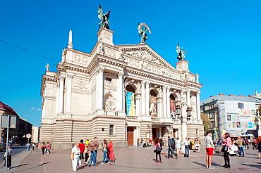 Lvov opera and ballet theater, Lviv, Ukraine, Eastern Europe