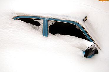The car closed by snow, Odessa, Ukraine