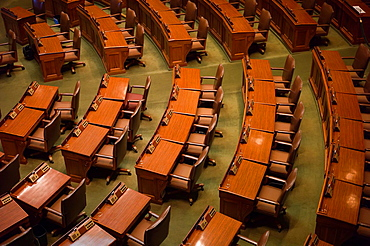USA, Minnesota, Minneapolis, St  Paul, Minnesota State Capitol, elevated view of the Minnesota House of Representatives