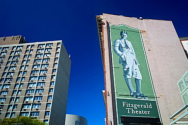 USA, Minnesota, Minneapolis, St  Paul, Fitzgerald Theater, home to the Prairie Home Companion radio show hosted by Garrison Keillor on NPR, National Public Radio