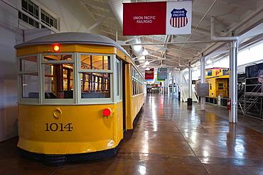 USA, Nebraska, Omaha, The Durham Museum, city museum in 1931 Union Railroad Station, train exhibits