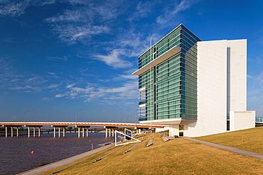 USA, Oklahoma, Oklahoma City, Boathouse District, Cheasapeake Finish Line Tower