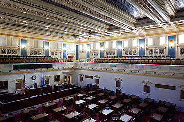 USA, Oklahoma, Oklahoma City, Oklahoma State Capitol Building, Oklahoma Senate Chamber