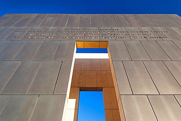 USA, Oklahoma, Oklahoma City, Oklahoma City National Memorial to the victims of the Alfred P  Murrah Federal Building Bombing on April 19, 1995, West Entrance