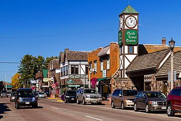 The main street of Minocqua, Wisconsin, USA