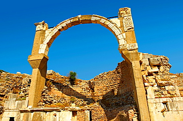 Arch of The Roman Pollio Fountain, early 1st century B C  Ephesus Archaeological Site, Anatolia, Turkey