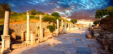 Curetes Street Priest Street that runs through the centre of Ephesus  Ephesus Archaeological Site, Anatolia, Turkey