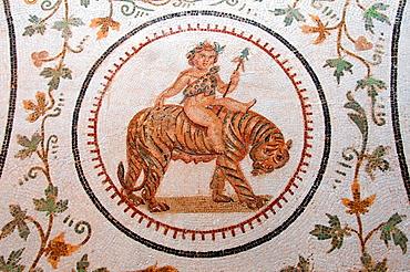 God of Wine Dionysus Bacchus, Ancient Carthage, antique city, Tunisia, Africa