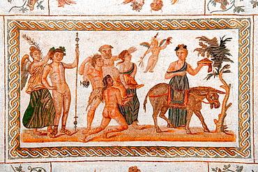 Roman mosaic, Ancient Carthage, antique city, Tunisia, Africa