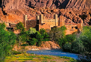Kasbah in Dades Valley  South of Morocco.