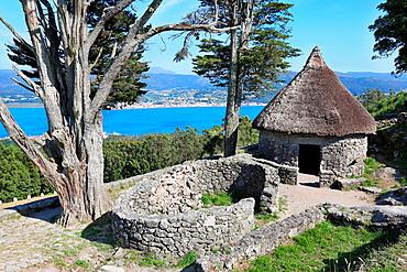 Castro of Santa Tegra, Iron Age village, A Guarda, Pontevedra, Galicia, Spain.