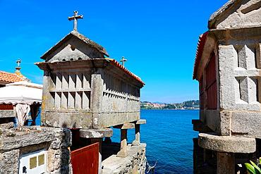 Horreos, Combarro, Poio, Ria de Pontevedra, Pontevedra province, Galicia, Spain.