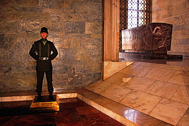 Tomb of Ataturk at the 'Anitkabir' (Ataturk's Mausoleum) in the Maltepe quarter, Ankara, Turkey