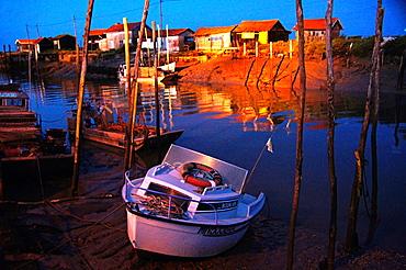 Harbour of La Tremblade, Charente-Maritime, Poitou-Charentes, France