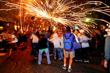 'Correfocs', La Merce festival, Barcelona, Catalonia, Spain.