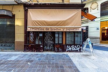 Closed joke shop, Valencia Spain