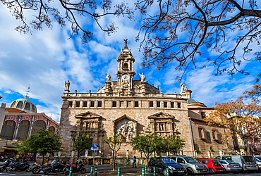 Santos Juanes church Gothic style in its origins, rebuilt in a Barroc style, Valencia  Comunidad Valenciana, Spain