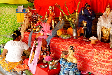 Nats alter Yadanagu nats festival Amarapura Mandalay Division Burma Republic of the Union of Myanmar.