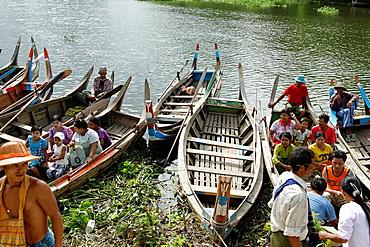 Lake Taungthaman Amarapura Mandalay Division Burma Republic of the Union of Myanmar.