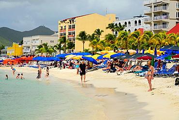 Beach Philipsburg St Martin Maarten Caribbean Island Netherland Antilles