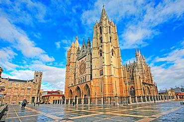 Leon Cathedral, Leon city, Castilla y Leon, Spain, Espana