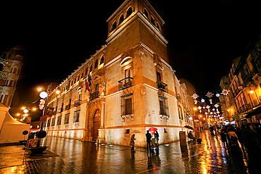 Leon city, city at night, Castilla y Leon, Spain