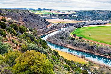 Tajo river in Zorita de los Canes Guadalajara Castilla la Mancha Spain