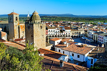Overview of Trujillo, in Caceres province Extremadura Spain