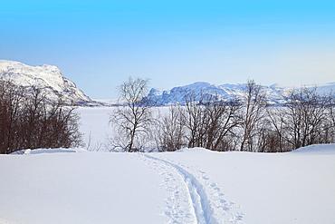 Suorva Stora sjofallets national park Lappland Sweden.