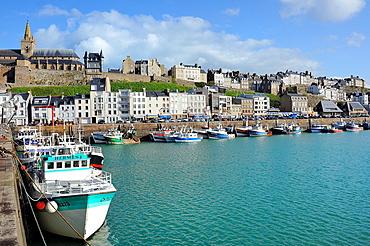 France, Manche, Granville, The harbour