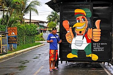 Street Of Bocas Del Toro Town, Colon Island, Bocas Del Toro Archipelago, Republic Of Panama, Central America