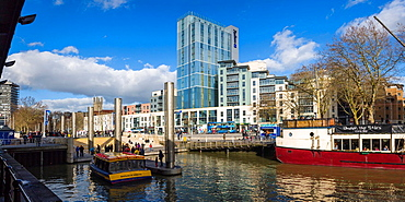 The floating harbour at St Augustines Reach, Bristol, England