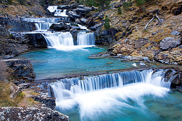 Waterfall of Gradas de Soaso, Ordesa Valley, National Park of Ordesa and Monte Perdido, Huesca, Spain