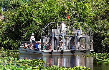 Tourists on an Airboat, The Everglades, Florida, USA