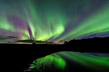 Northern lights in Skaftafell National Park, East of Iceland
