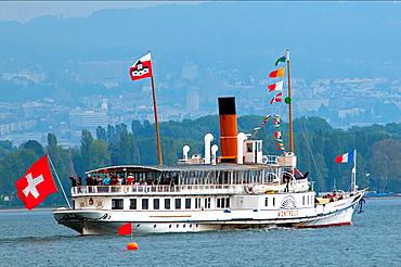 Geneva Lake, Lac Leman, Steamboat Cruise, Switzerland, Europe