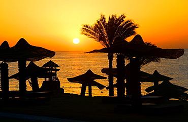 Sunrise in the Ritz-Carlton resort,Sharm El Sheikh,Egypt