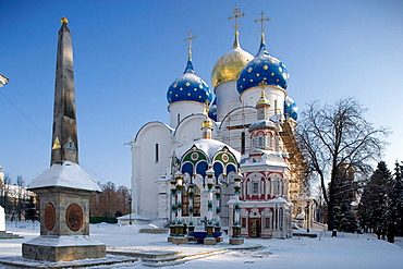 Cathedral of the Assumption, 1559-85, Holy Trinity-St, Sergius Lavra (monastery), Sergiyev Posad, Golden Ring, Russia