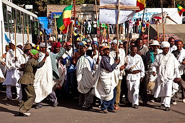 Local People Celebrating Timkat The Festival of Epiphany, Gondar, Ethiopia