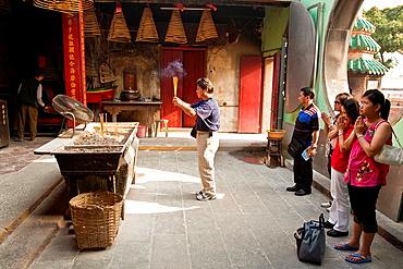People Praying, A Ma Buddhist Temple, Macau, China