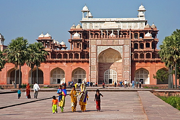 The Mausoleum of Emperor Akbar at Sikandra near Agra, UP, India