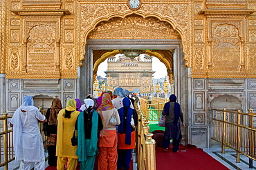 The Entrance to The Golden Temple of Amritsar, aka The Harmandir Sahib or Hari Mandir Punjab, India