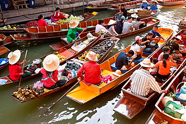 The Floating Market, Damnoen Saduak, Thailand