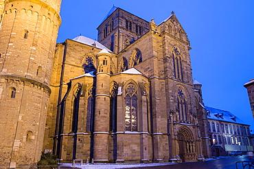 Church of Our Lady, illuminated at night, World Heritage Site, Trier, Rhineland-Palatinate, Germany
