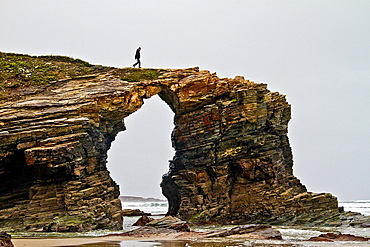 Beach of the Cathedrals, Ribadeo, Lugo, Galicia, Spain